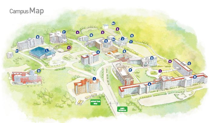 Campus Map 외국어 영문사이트